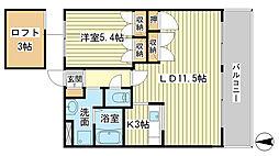 兵庫県姫路市白浜町神田2丁目の賃貸アパートの間取り