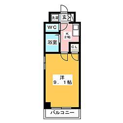 ステージ博多[8階]の間取り