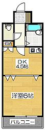 ライオンズマンション博多中央[6階]の間取り