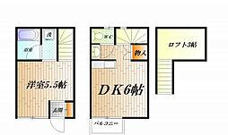 [テラスハウス] 神奈川県横須賀市三春町4丁目 の賃貸【/】の間取り