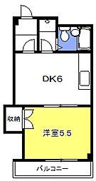 松本マンション[305号室号室]の間取り