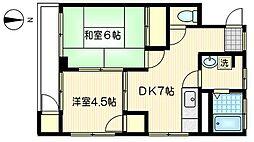 第2アーバン東横[3階]の間取り