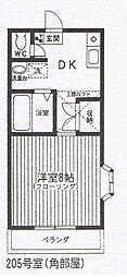 神奈川県座間市相武台3の賃貸アパートの間取り