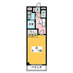 メゾンドゥティアレ[2階]の間取り