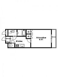 セレゾI[2階]の間取り