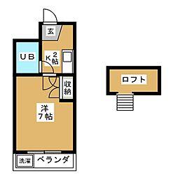 CIEUX京都[4階]の間取り