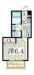 セナリオコート柏5[1階]の間取り