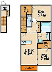 (仮称)太寺大野町D−room[2階]の間取り