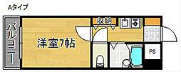 アンビション大阪[4階]の間取り