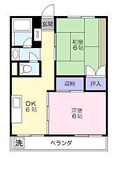 横山マンション[305号室]の間取り