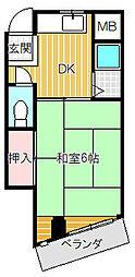 出澤マンション[303号室]の間取り