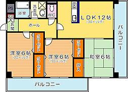 三島マンションI[102号室]の間取り