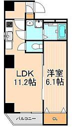 リヴシティ上野入谷[10階]の間取り