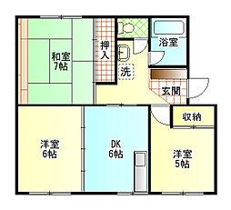 高木ハイツ2[2階]の間取り