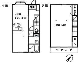 [タウンハウス] 埼玉県さいたま市大宮区三橋3丁目 の賃貸【/】の間取り