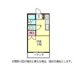 愛知県小牧市藤島町居屋敷の賃貸アパートの間取り