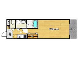 グランレブリー西院[205号室]の間取り