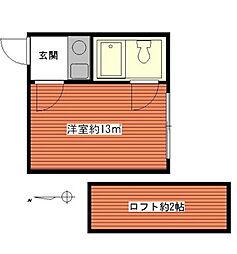 東京都板橋区三園1丁目の賃貸アパートの間取り