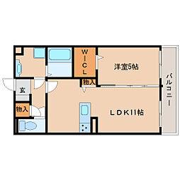 兵庫県尼崎市長洲西通2丁目の賃貸アパートの間取り