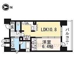 リーガル京都河原町五条II201 2階1LDKの間取り