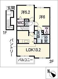 エスペランサMIII[2階]の間取り