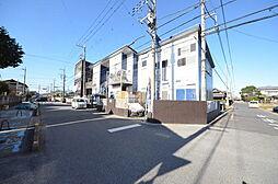 埼玉県越谷市大字花田の賃貸アパートの外観