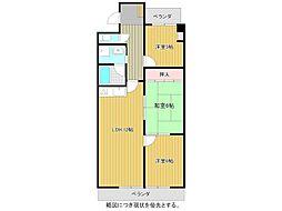 愛知県名古屋市千種区振甫町4丁目の賃貸マンションの間取り