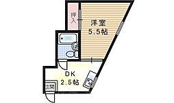 福島エンビィマンション[2階]の間取り