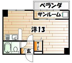 浅野スズキビル[5階]の間取り