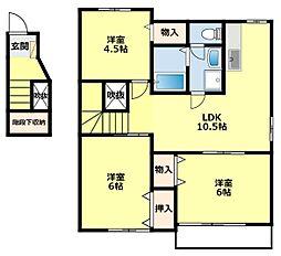 愛知県豊田市東新町2丁目の賃貸アパートの間取り