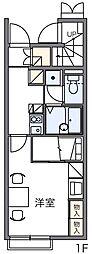 レオパレスオークヒルズC[1階]の間取り