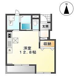 岡山県岡山市中区高屋の賃貸アパートの間取り