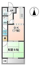 レジデンス大島[1階]の間取り
