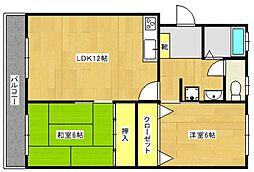 山本ビル[1階]の間取り