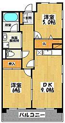 ルプソアール[4階]の間取り