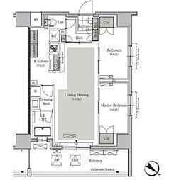 都営三田線 西巣鴨駅 徒歩9分の賃貸マンション 11階2LDKの間取り