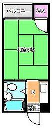 千寿マンション針中野[3階]の間取り