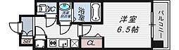 レジュールアッシュ京橋CROSSII[9階]の間取り