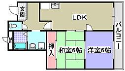 エテルネル21[305号室]の間取り