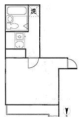 クレッセントSI-4[3階]の間取り