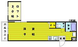 ルート新宮駅前E[1階]の間取り