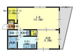 エタニティ真田山[2階]の間取り