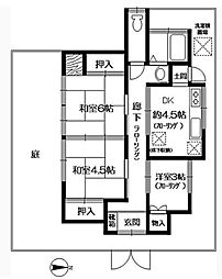 [一戸建] 大阪府箕面市牧落2丁目 の賃貸【/】の間取り