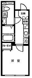 クレスト北新宿A棟[3階]の間取り