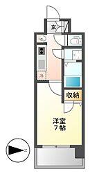 UURコート名古屋名駅[12階]の間取り