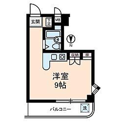 メゾンブランシュII[5階]の間取り