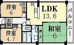 ディックベル[2階]の間取り