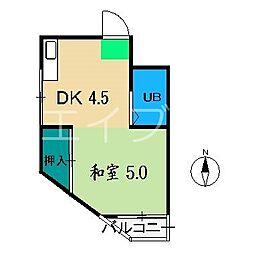コーポルイ[5階]の間取り