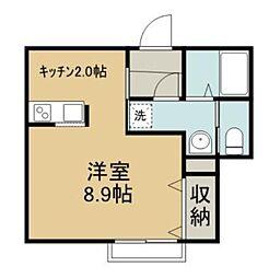 ゆうなぎ荘[102号室]の間取り