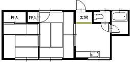 コーポ東[1階]の間取り